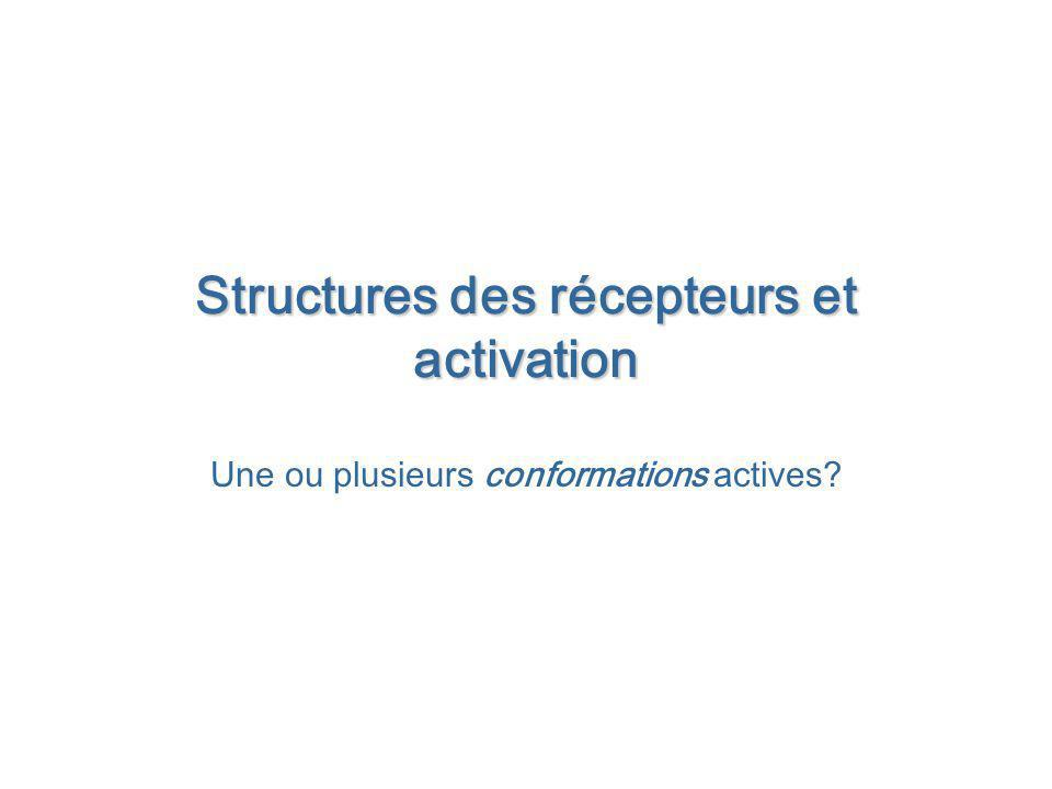 Structures des récepteurs et activation Une ou plusieurs conformations actives?