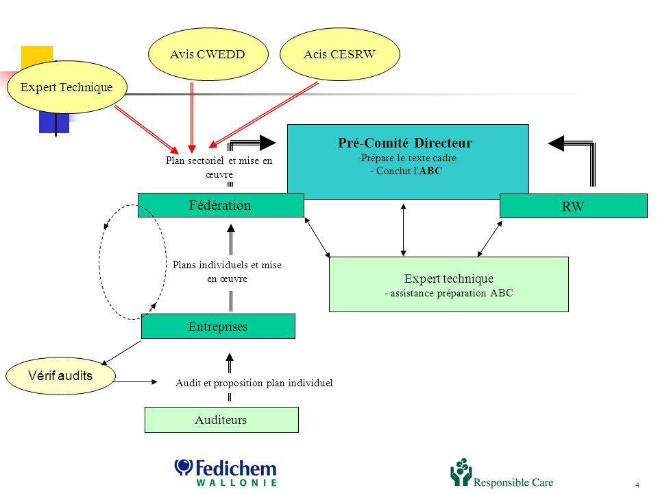 5 Notes dorientation n°1 : grandes étapes et nature des engagements n°2 : audits, plans individuels et plans sectoriels n°3 : rôles des différents acteurs n°4 : Tâches à accomplir en vue de la préparation et de la mise en œuvre des accords de branche.