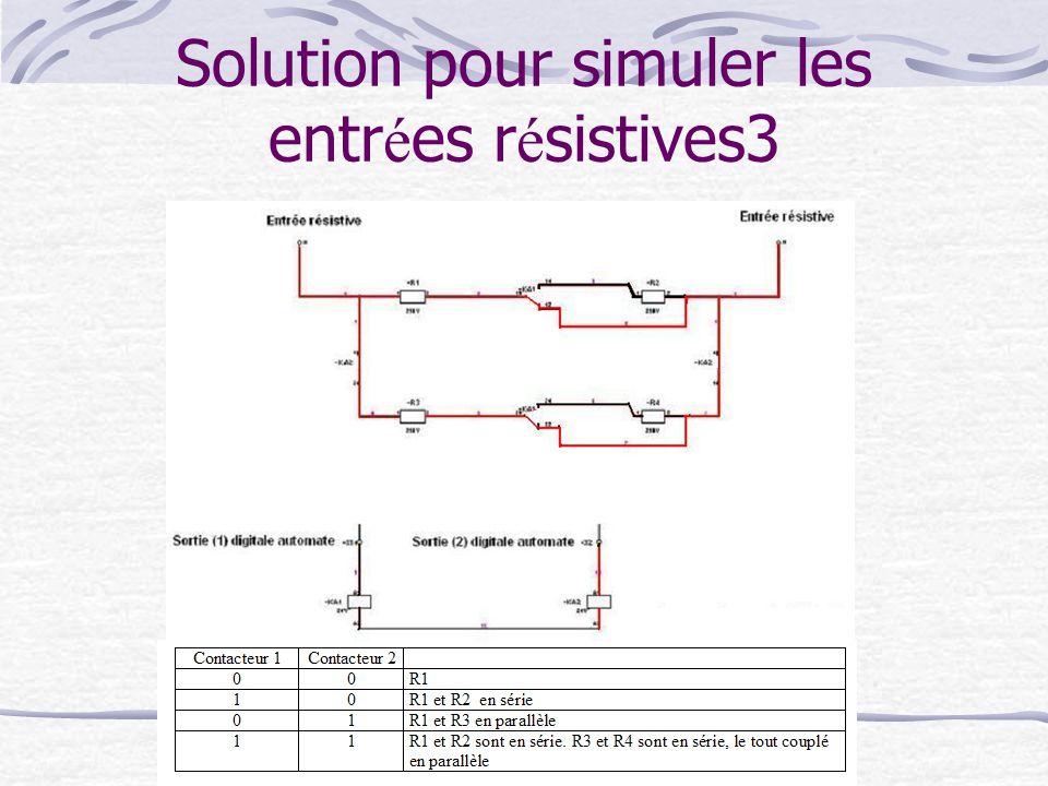 Solution pour simuler les entr é es r é sistives3