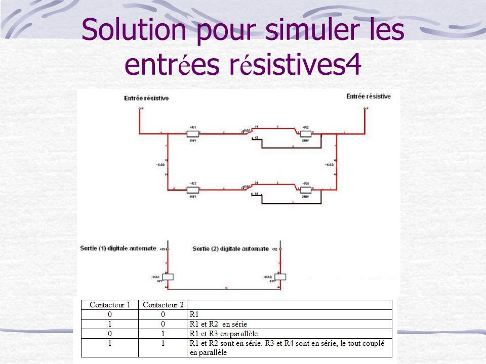 Solution pour simuler les entr é es r é sistives4