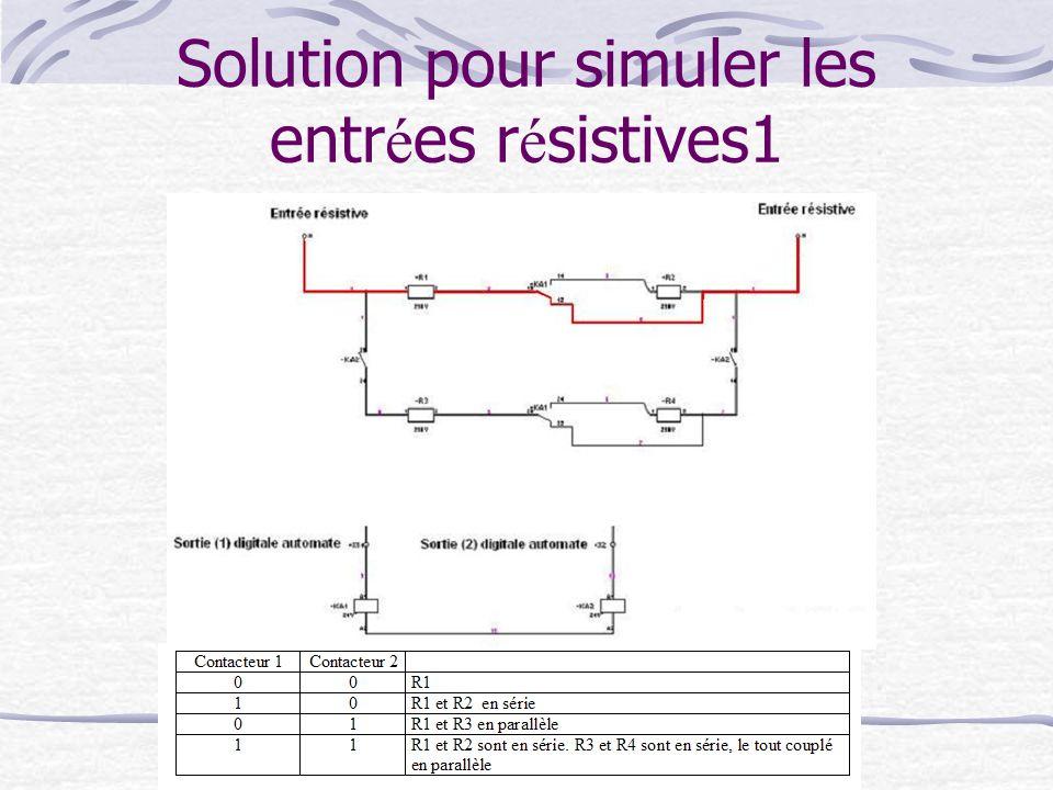Solution pour simuler les entr é es r é sistives1