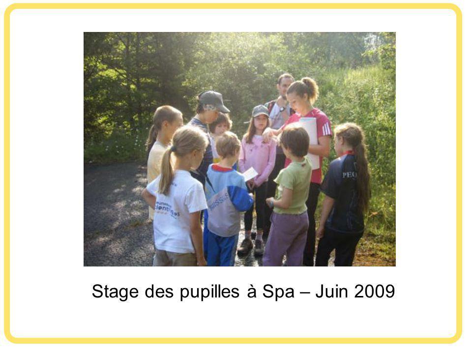 Stage des pupilles à Spa – Juin 2009