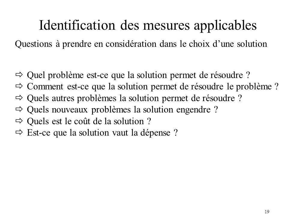 19 Quel problème est-ce que la solution permet de résoudre .