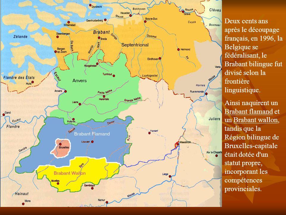 Le Royaume des Pays-Bas, reconstitant les XVII provinces de Charles-Quint, hérita du découpage administratif français dont il garda les limites.