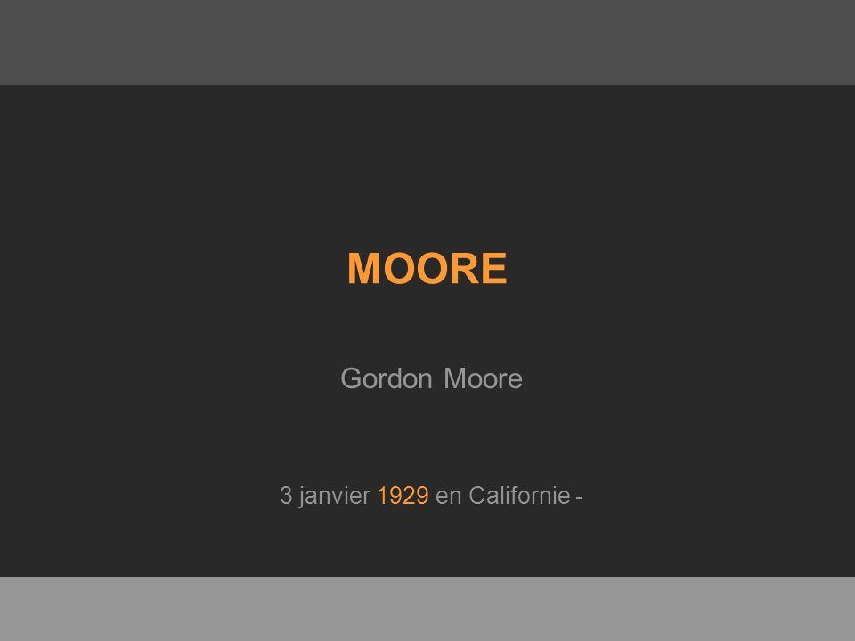 MOORE Gordon Moore 3 janvier 1929 en Californie -