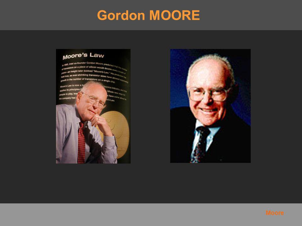 Gordon MOORE Biographie Loi L histoire Timeline Situation Géographique Moore