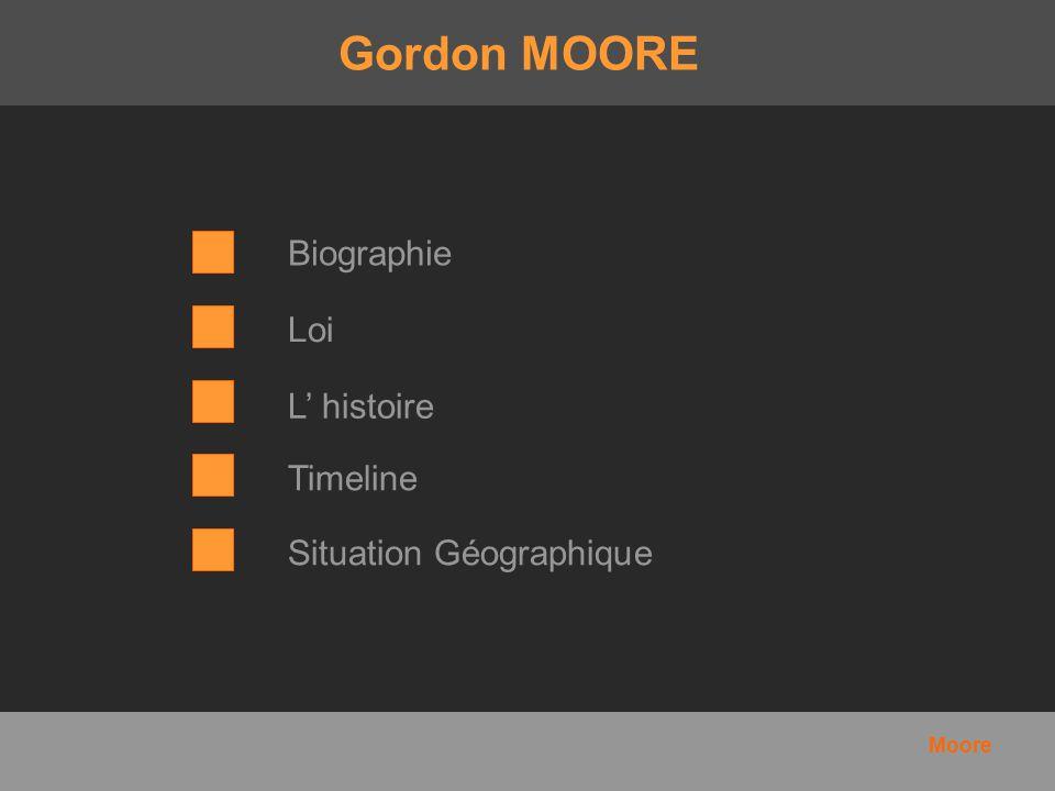 Biographie Gordon Moore est né le 3 janvier 1929 en Californie.