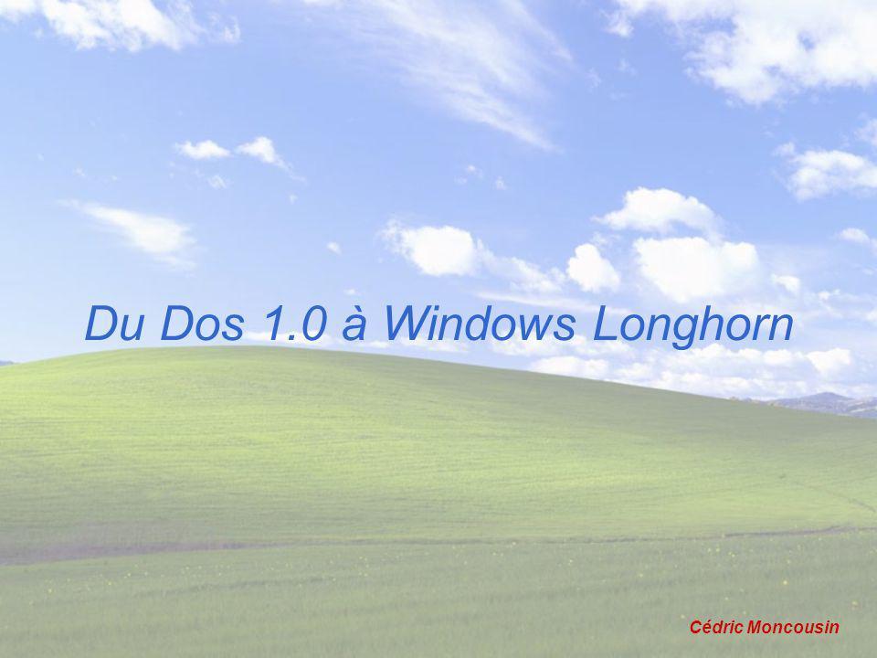 Du Dos 1.0 à Windows Longhorn Cédric Moncousin