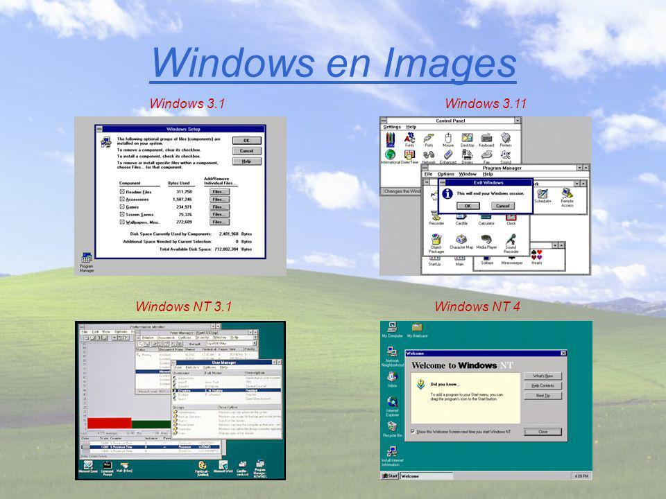 Windows en Images Windows NT 4Windows NT 3.1 Windows 3.11Windows 3.1