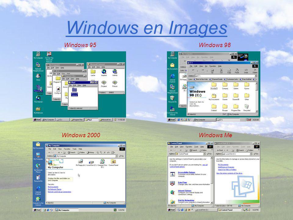 Windows en Images Windows 95Windows 98 Windows 2000Windows Me