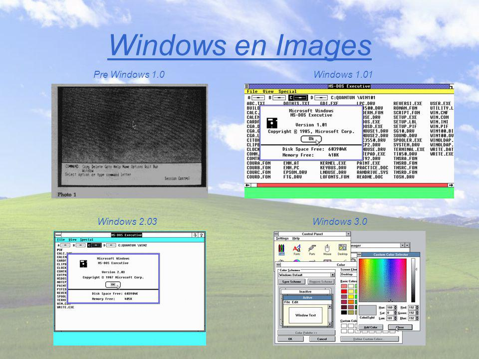 Windows en Images Windows NT 4Windows NT 3.1 Windows 3.11Windows 3.1