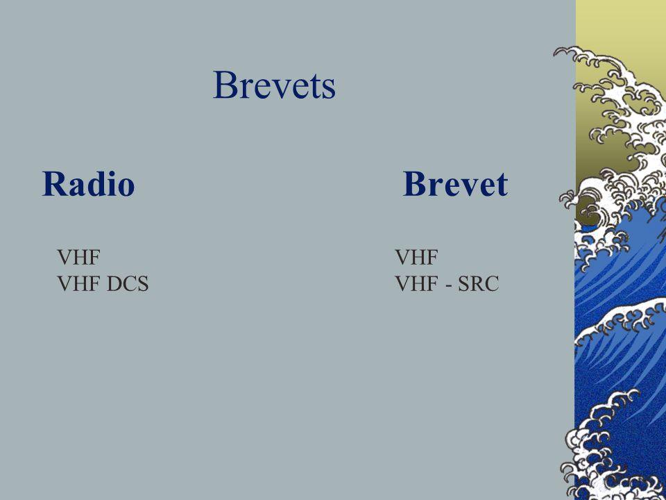 Radio Brevet VHF VHF DCS VHF - SRC Brevets