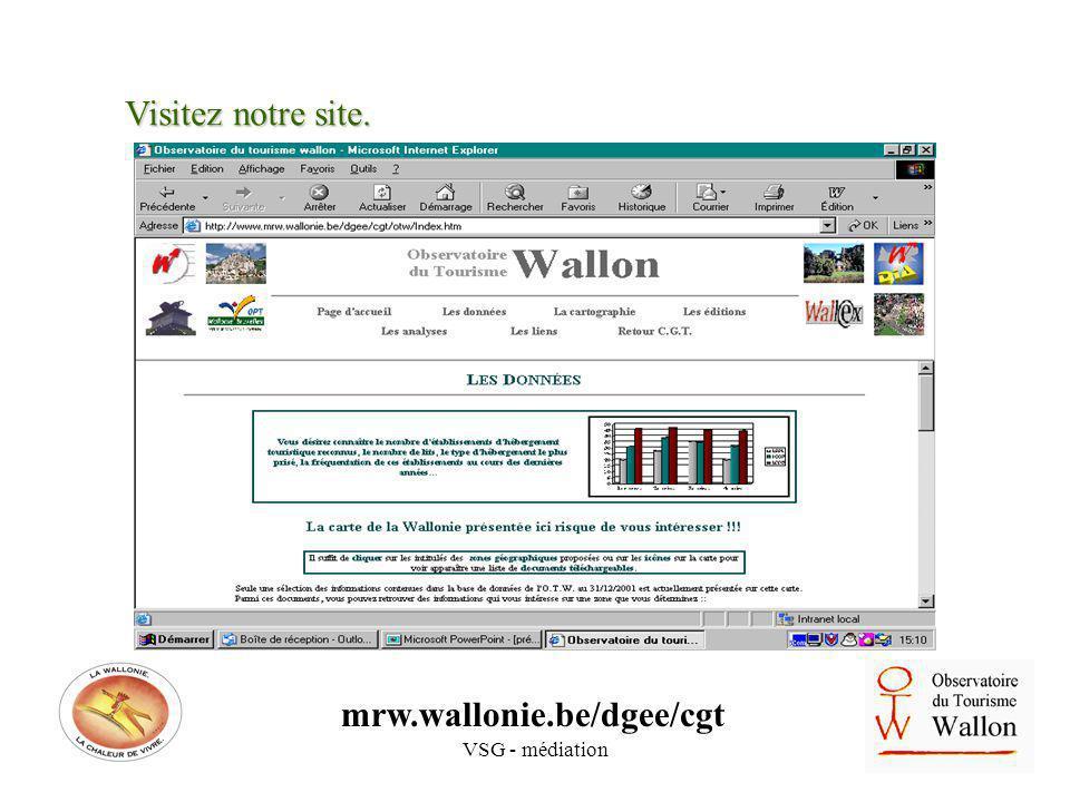 VSG - médiation Visitez notre site. mrw.wallonie.be/dgee/cgt