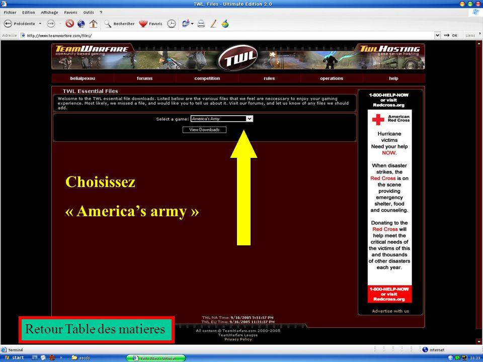 RDV sur le site de la TWL puis cliquez sur « Downloads / Files » Retour Table des matieres