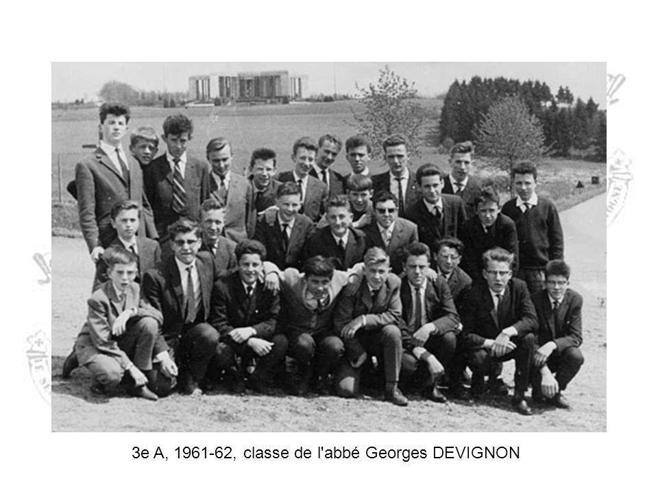 3e 1961-1962 3e A3e B Pierre CHARNEUX Michel CLOTUCHE Célestin COLLIN Jean-Pol DUMONT Pierre DUSAUSOIT Victor FURDELLE Jean-Claude LAGNEAU Roger MOTTE