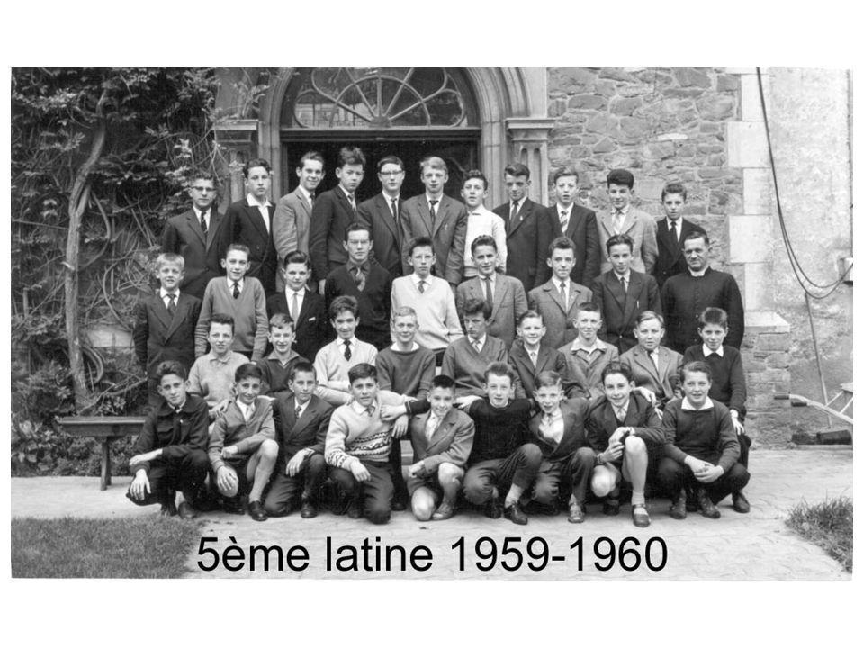 5e 1959-1960 5e A5e B André BAUVIR Gérard BRAU Pierre CHARNEUX Michel CLOTUCHE Paul DEFOY André DEPREZ Pierre DUSAUSOIT André GODENIR René LEJEUNE Pau