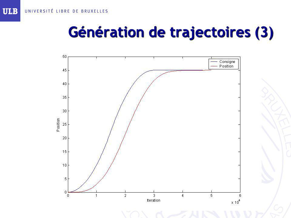Génération de trajectoires (3)