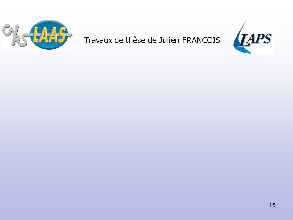 16 Travaux de thèse de Julien FRANCOIS