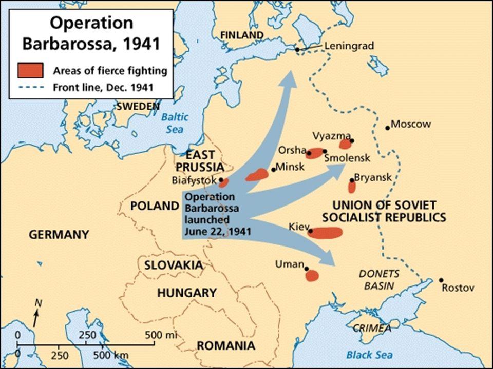 22 juin 1941 Hitler déclenche lopération