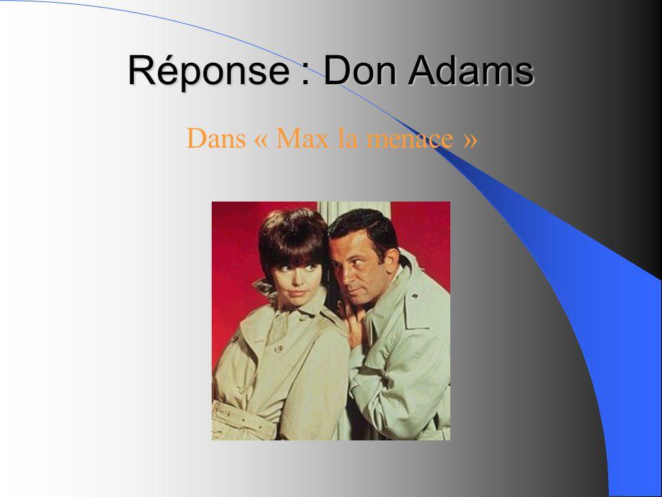 Réponse : Don Adams Dans « Max la menace »