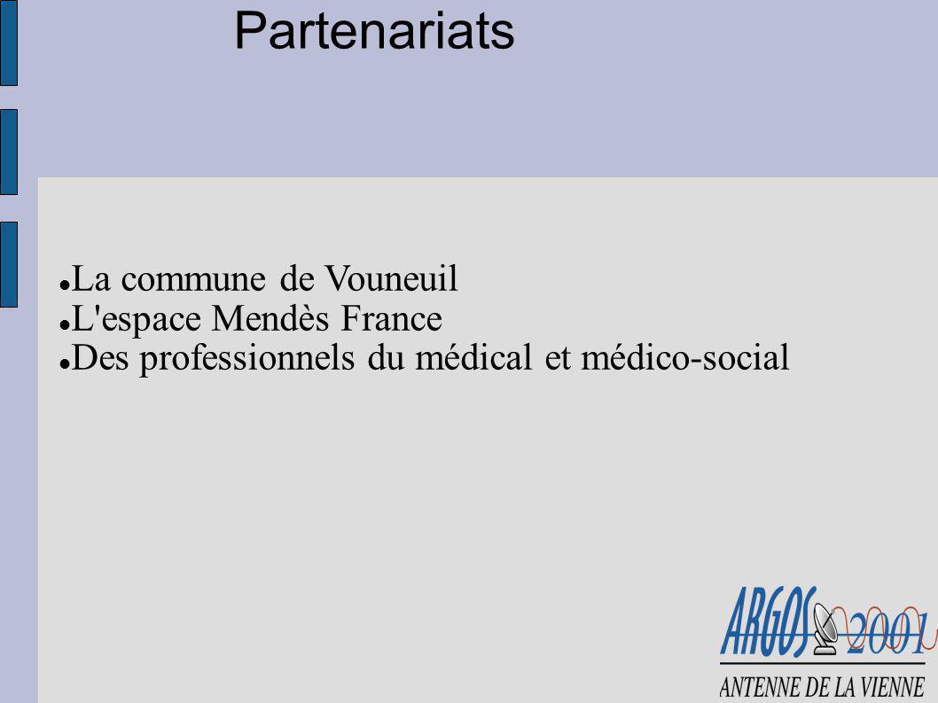 Partenariats La commune de Vouneuil L'espace Mendès France Des professionnels du médical et médico-social