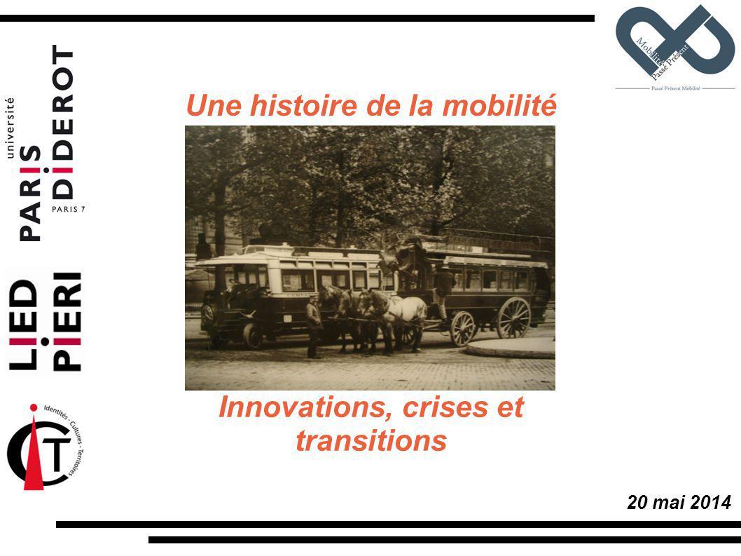 20 mai 2014 Innovations, crises et transitions Une histoire de la mobilité