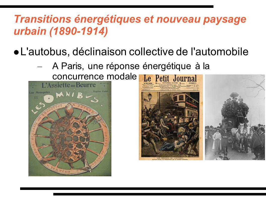 Transitions énergétiques et nouveau paysage urbain (1890-1914) L'autobus, déclinaison collective de l'automobile – A Paris, une réponse énergétique à