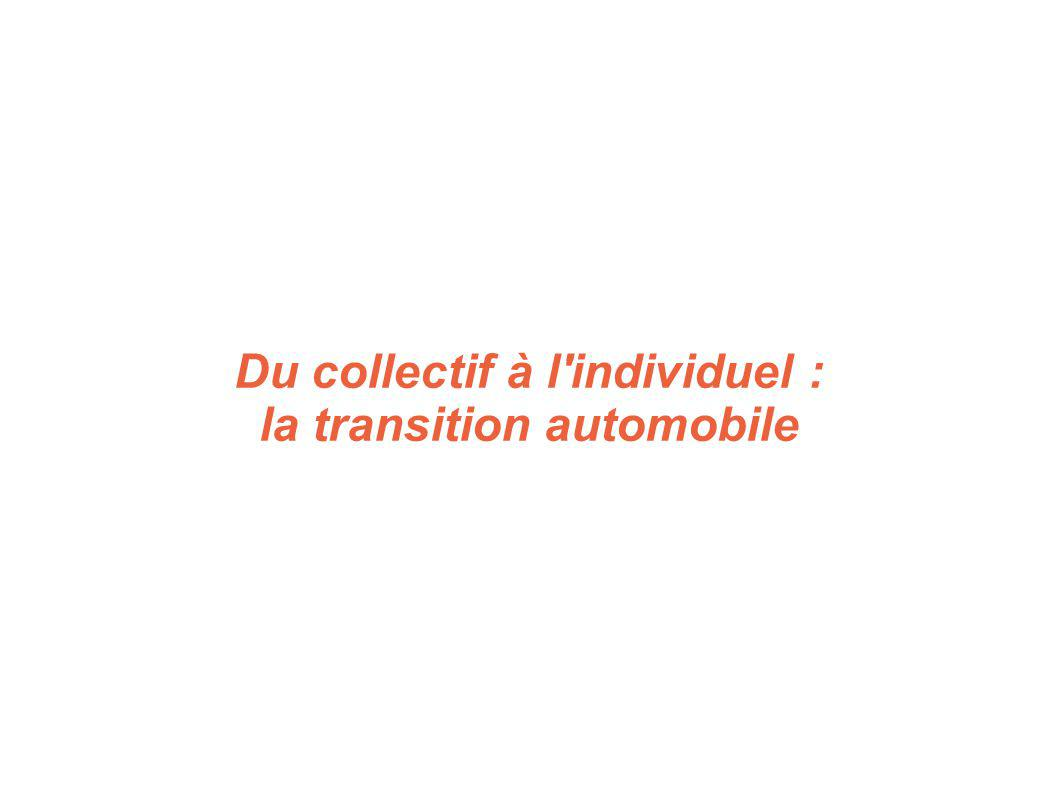 Du collectif à l'individuel : la transition automobile