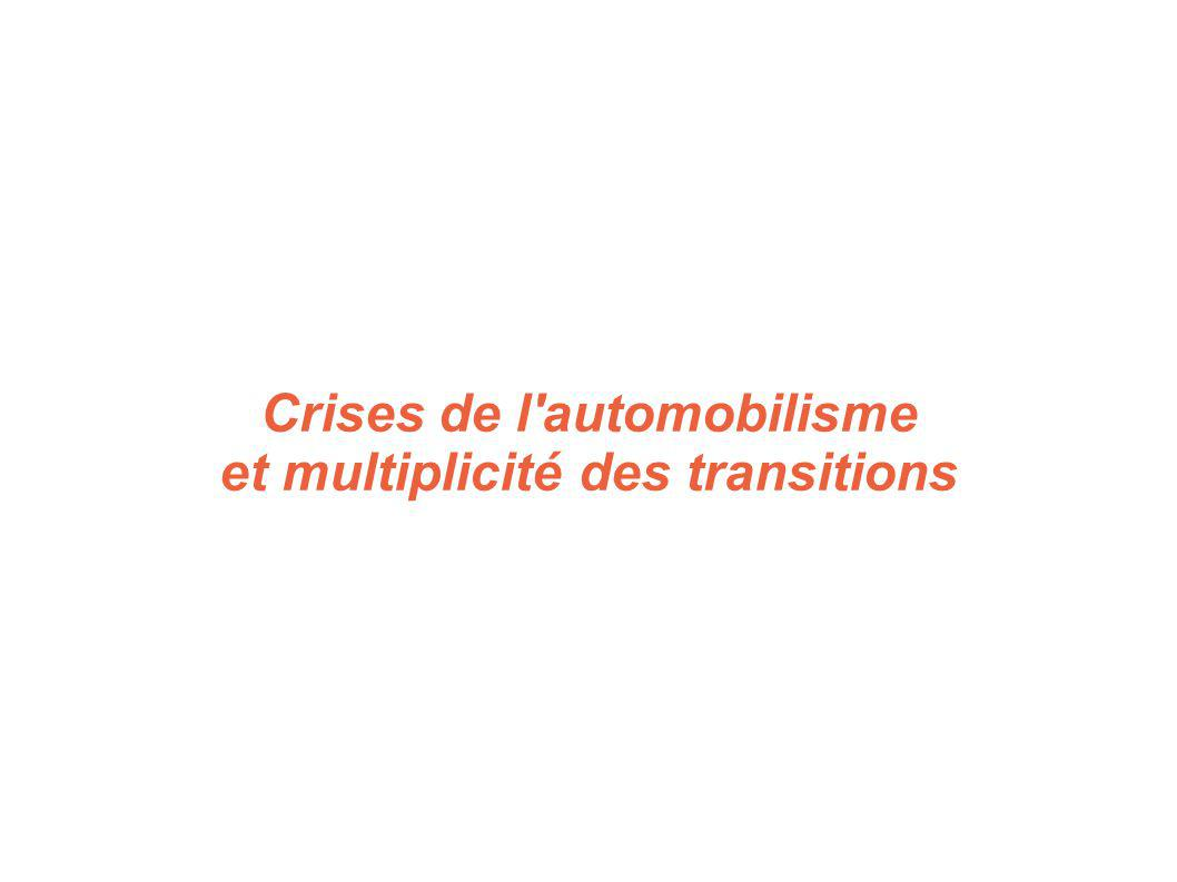 Crises de l'automobilisme et multiplicité des transitions