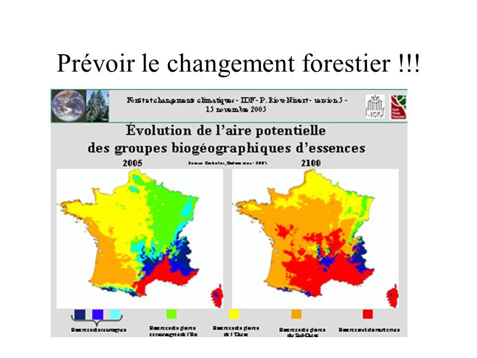 Prévoir le changement forestier !!!