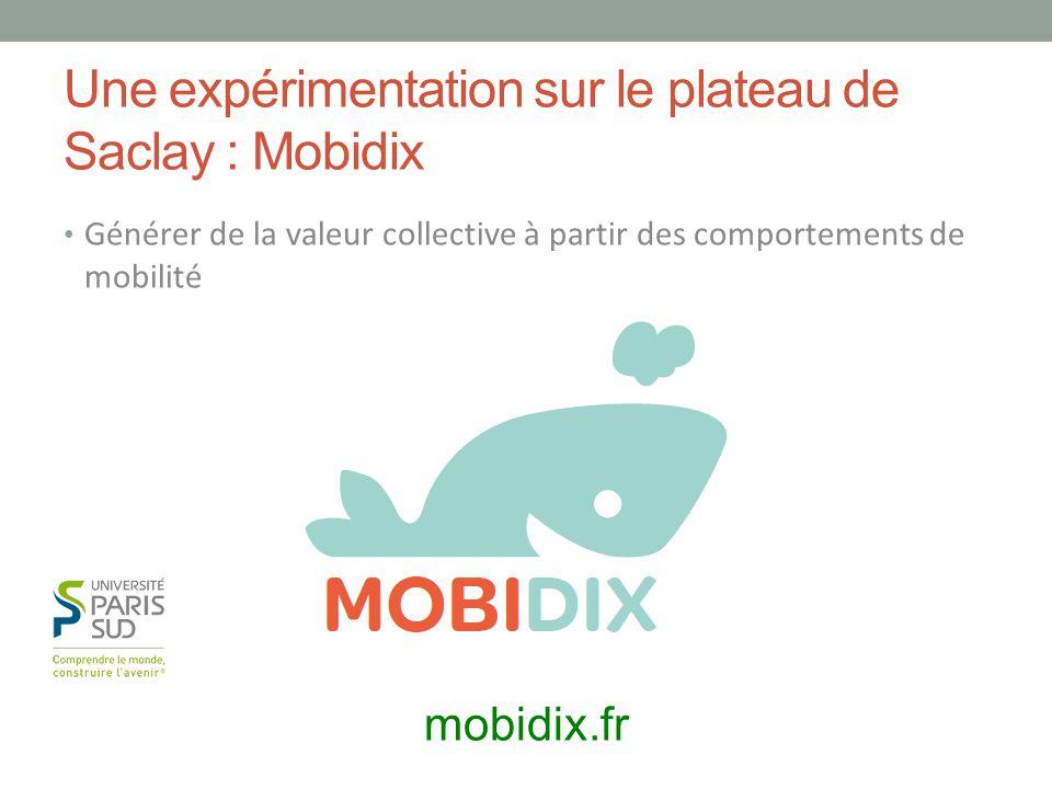 Une expérimentation sur le plateau de Saclay : Mobidix Générer de la valeur collective à partir des comportements de mobilité mobidix.fr
