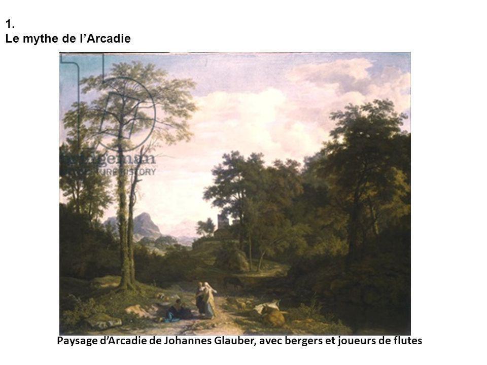 1. Le mythe de lArcadie Paysage dArcadie de Johannes Glauber, avec bergers et joueurs de flutes