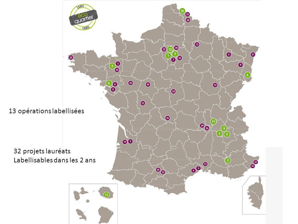 13 opérations labellisées 32 projets lauréats Labellisables dans les 2 ans