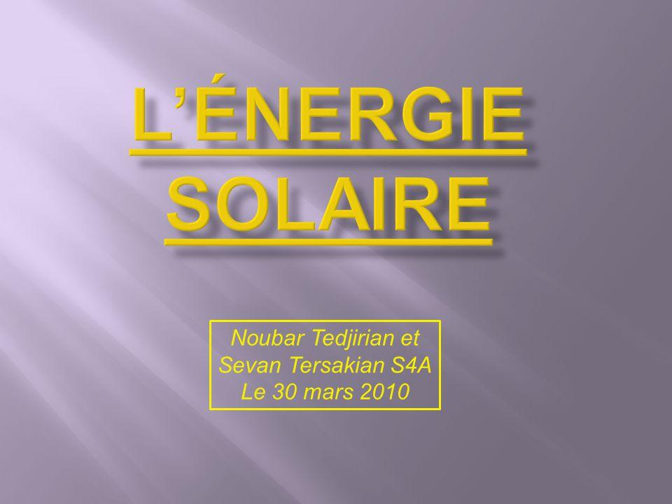 L énergie solaire est l énergie du Soleil par son rayonnement, directement ou de manière diffuse à travers l atmosphère.