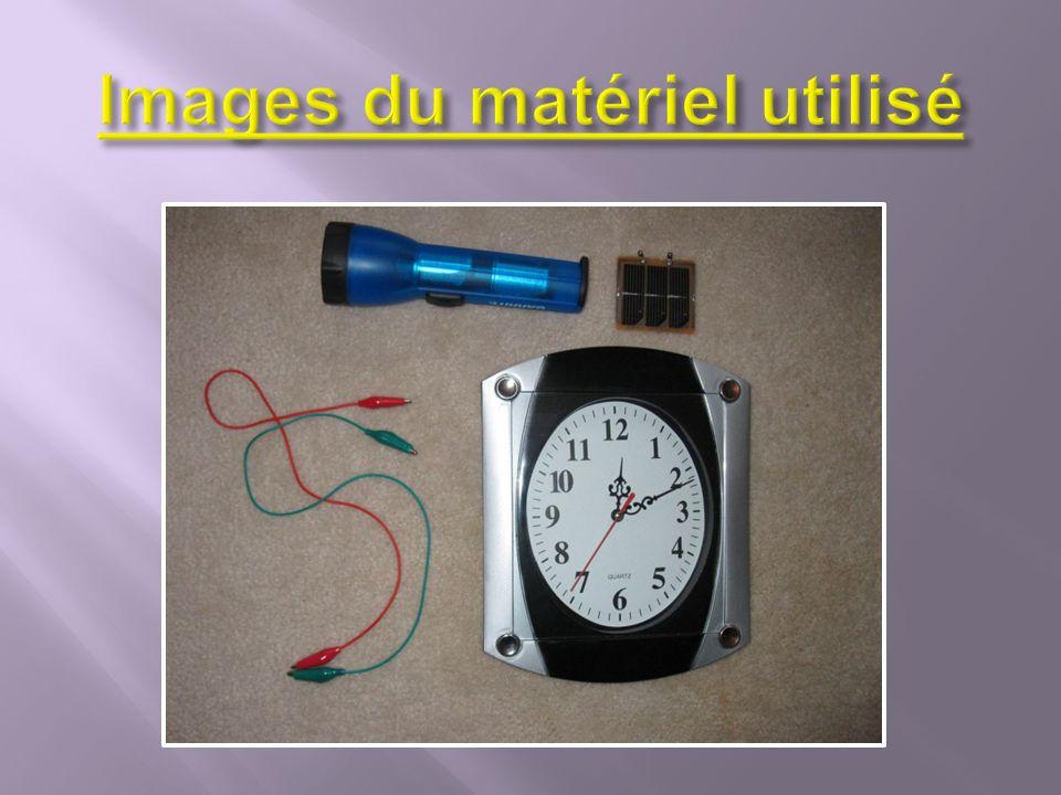 Fils électriques Pile (avec batteries) Horloge Plaque solaire