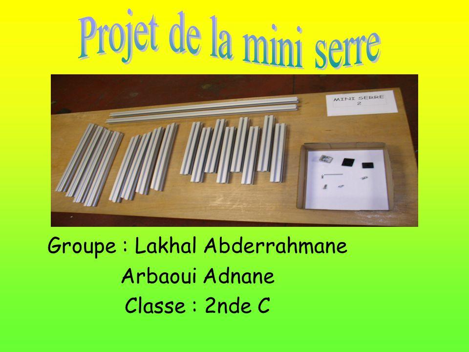 Groupe : Lakhal Abderrahmane Arbaoui Adnane Classe : 2nde C