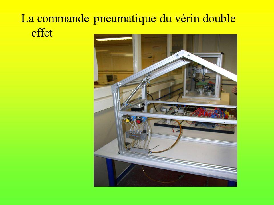 La commande pneumatique du vérin double effet