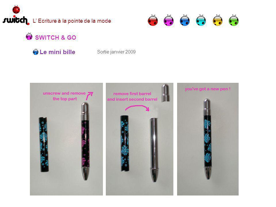 Le mini bille SWITCH & GO Sortie janvier 2009 L Ecriture à la pointe de la mode
