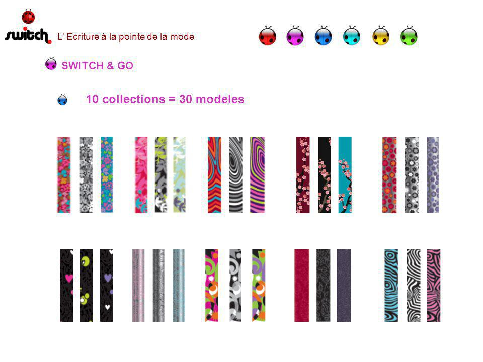 SWITCH & GO 10 collections = 30 modeles L Ecriture à la pointe de la mode