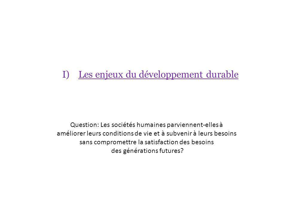A) Des inégalités de développement dans le monde 1) Quest-ce que le développement .