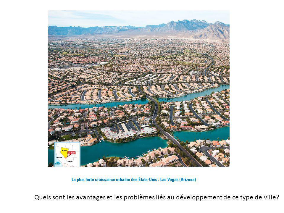 Quels sont les avantages et les problèmes liés au développement de ce type de ville?