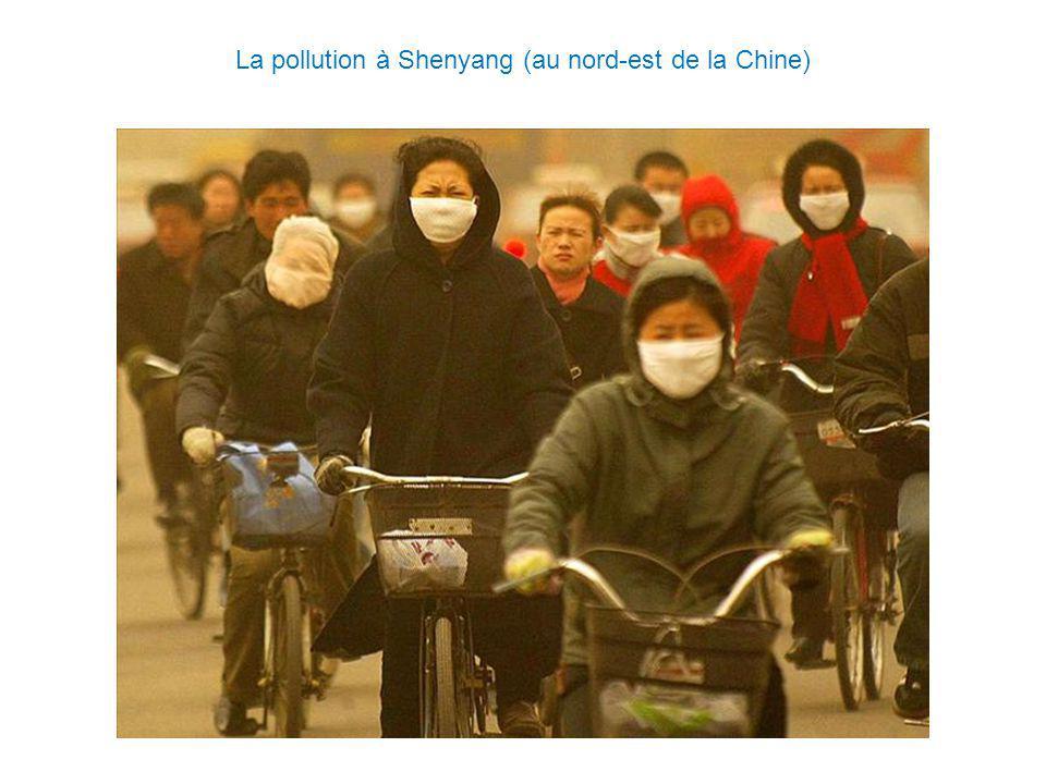 La pollution à Shenyang (au nord-est de la Chine)