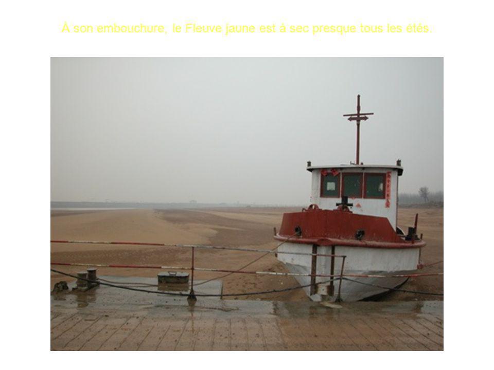 À son embouchure, le Fleuve jaune est à sec presque tous les étés.