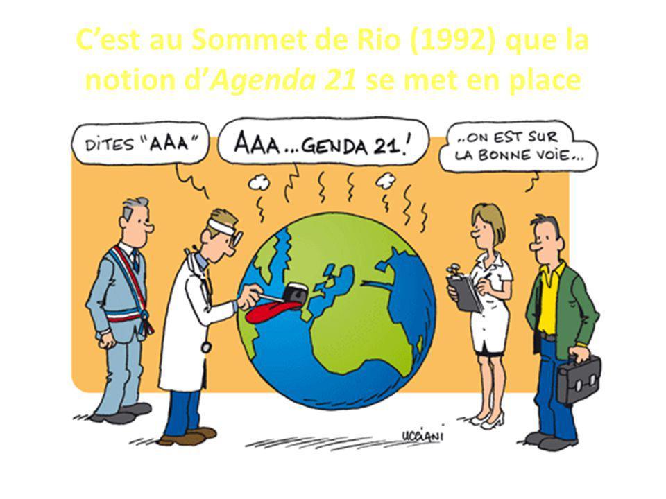 Cest au Sommet de Rio (1992) que la notion dAgenda 21 se met en place