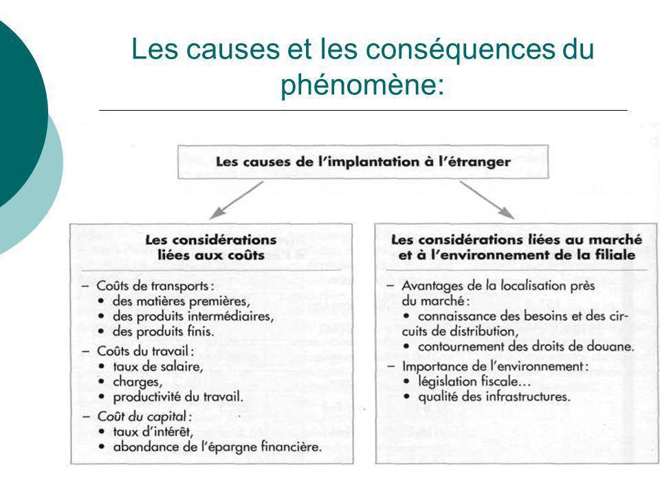Les causes et les conséquences du phénomène: