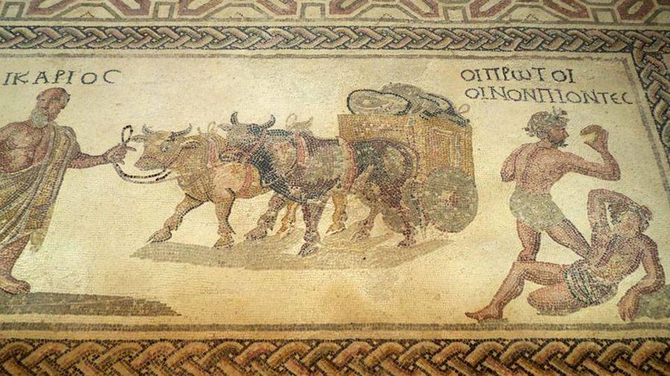 Dionysos, Akmé et Icarios