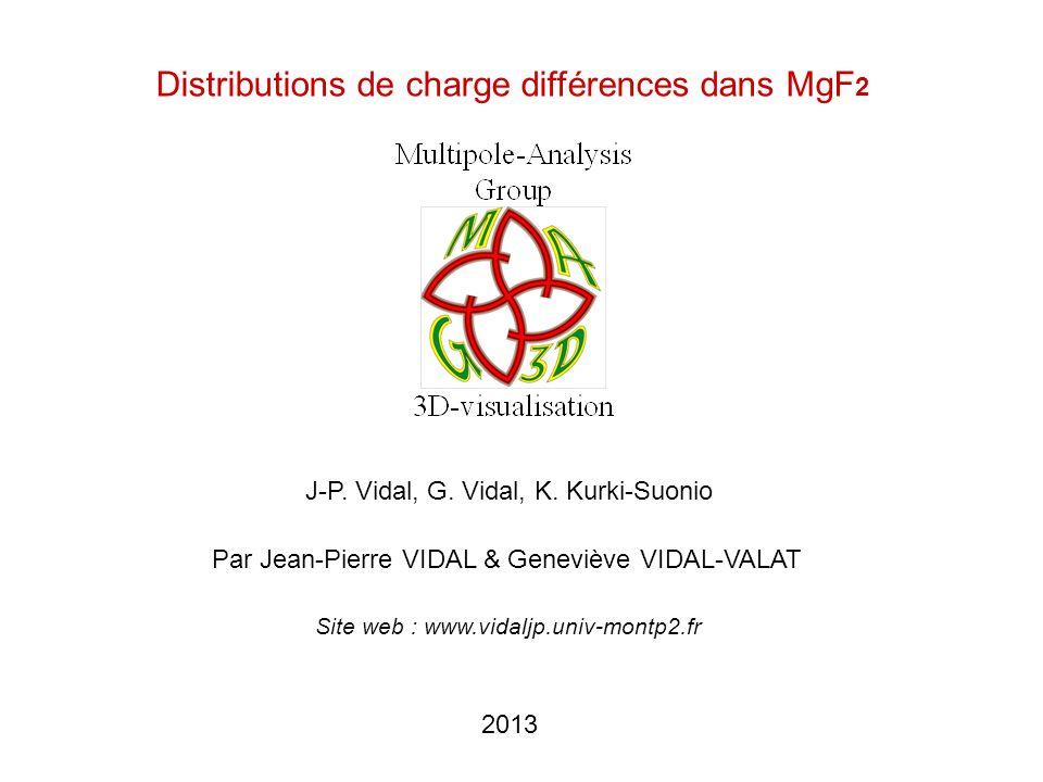 2013 Distributions de charge différences dans MgF 2 Par Jean-Pierre VIDAL & Geneviève VIDAL-VALAT J-P. Vidal, G. Vidal, K. Kurki-Suonio Site web : www