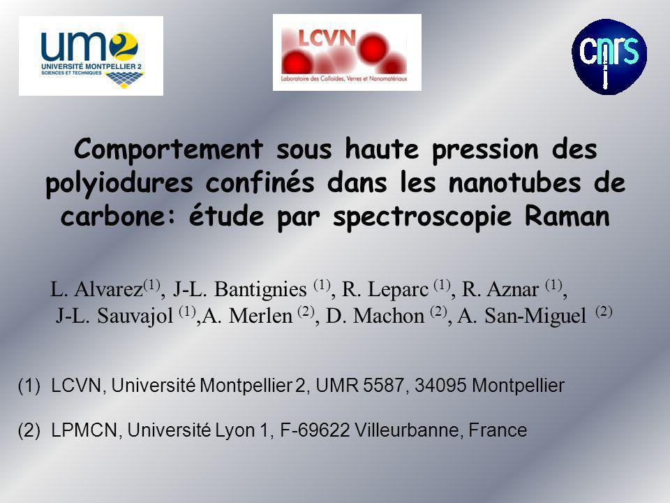 Comportement sous haute pression des polyiodures confinés dans les nanotubes de carbone: étude par spectroscopie Raman L. Alvarez (1), J-L. Bantignies