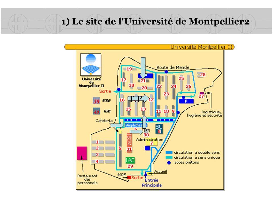 1) Le site de l'Université de Montpellier2 T.P.