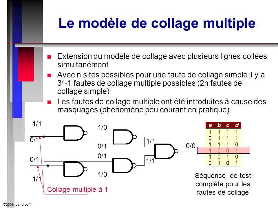 ©2008 Landrault Le modèle de collage multiple n Extension du modèle de collage avec plusieurs lignes collées simultanément n Avec n sites possibles po